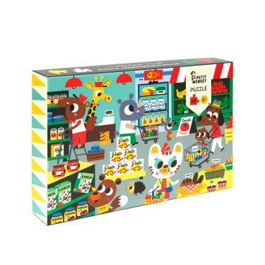 荷蘭Petit Monkey歡樂超級市場拼圖(48片/4Y+)-廠