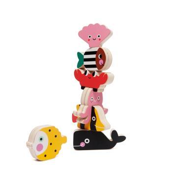 荷蘭Petit Monkey經典木玩-海洋動物疊疊樂(3Y+)-廠