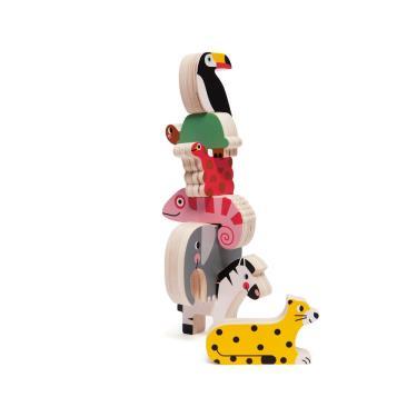 荷蘭Petit Monkey經典木玩-叢林動物疊疊樂(3Y+)-廠