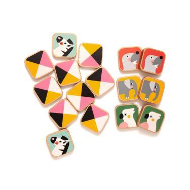 荷蘭Petit Monkey經典木玩-繽紛動物記憶翻翻樂(2Y+)-廠