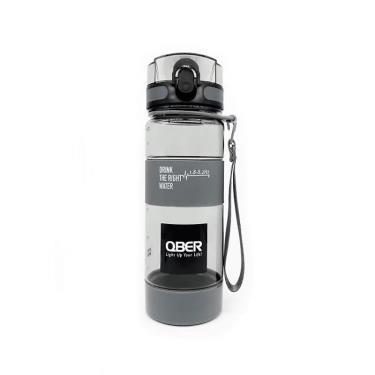 (新品上市)QBER 台灣製造 光量子頻譜水瓶-黑灰 600ml 廠送