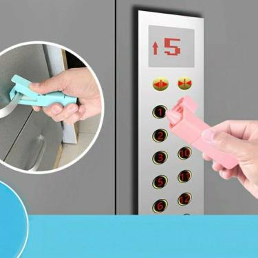 【防疫神器】免接觸 電梯按鈕  門把 (粉色)