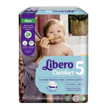 (送玩具)麗貝樂 嬰兒黏貼型紙尿褲/尿布 5號(L24片x8包/箱)