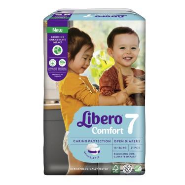 (送玩具)麗貝樂 嬰兒黏貼型紙尿褲/尿布 7號(XXXL21片x6包/箱)