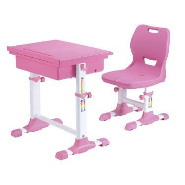 【SingBee 欣美】環保課桌椅 (桌+椅)-粉色 廠送