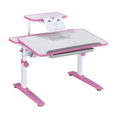 【SingBee 欣美】SBD-201 非凡比雙板手拉桌-粉紅色 (搭贈-側板組) 廠送