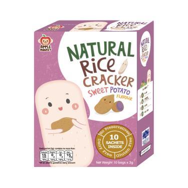 泰國Apple Monkey愛啵寶寶 茉莉香米 紫番薯餅 30g/盒