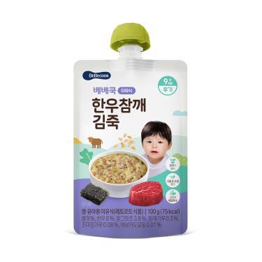 韓國BEBECOOK寶膳 嬰幼兒韓牛芝麻海苔粥 100g