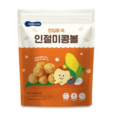 韓國BEBECOOK寶膳 嬰幼兒玉米球 原味 25g/包