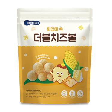 韓國BEBECOOK寶膳 嬰幼兒玉米球 雙倍起司 25g/包