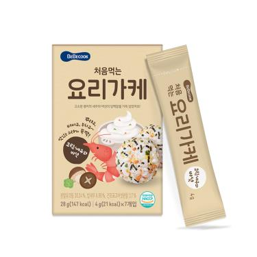 韓國BEBECOOK寶膳 初食拌飯香鬆 奶油香菇鮮蝦(4gX7包)