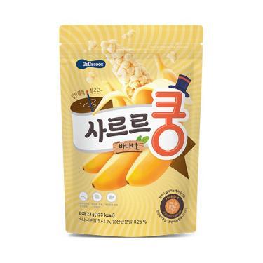 韓國BEBECOOK寶膳 幼兒益生菌香蕉泡芙 23g/包