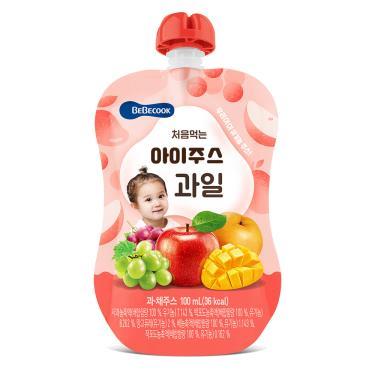 韓國BEBECOOK寶膳 嬰幼兒綜合果汁 100ml