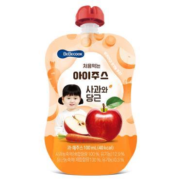 韓國BEBECOOK寶膳 嬰幼兒蘋果紅蘿蔔汁 100ml