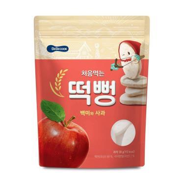 韓國BEBECOOK寶膳 嬰幼兒蘋果初食綿綿米餅 30g