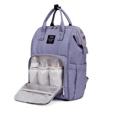 (附掛勾)【Heine 海恩】WIN-182多功能多口袋媽媽包 後背包(藍紫色)-廠送